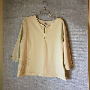 💋Cherokee night shirt pale yellow color💙